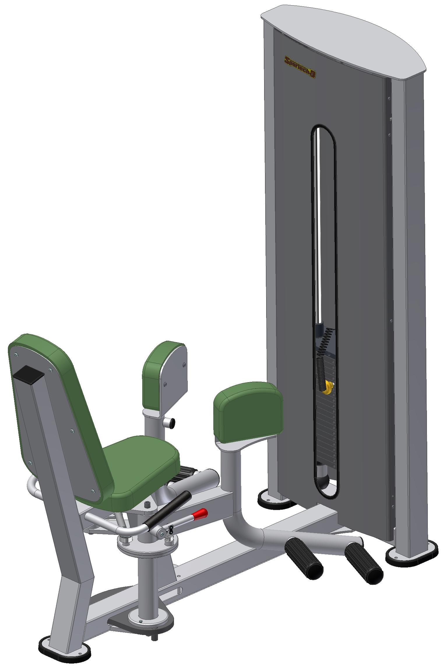 Тренажер для привідних м'язів стегна