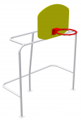 Ворота малые с баскетбольным щитом