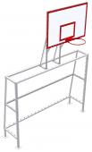 Ворота мини-футбольные с баскетбольным щитом