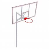 Щит баскетбольный из оргстекла 180х105 (FIBA)